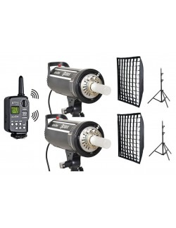 Kit flashes Godox DS300II y accesorios