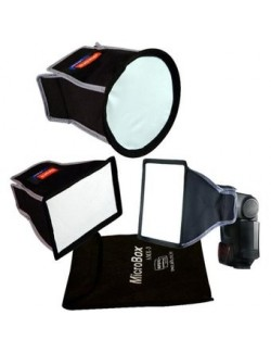 Kit 3 mini softbox para flash Microbox