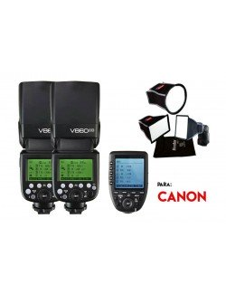 Kit Godox V860II y softbox