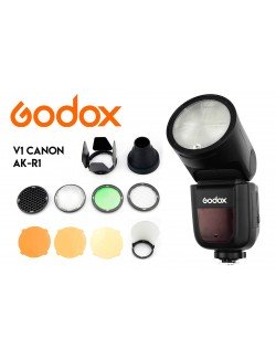 Kit Godox V1 Canon y modificadores AK-R1
