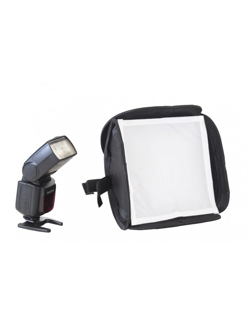 Softbox para flash 23x23 cm plegable