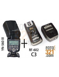 Kit flash YN 560 III y RF 602 C3