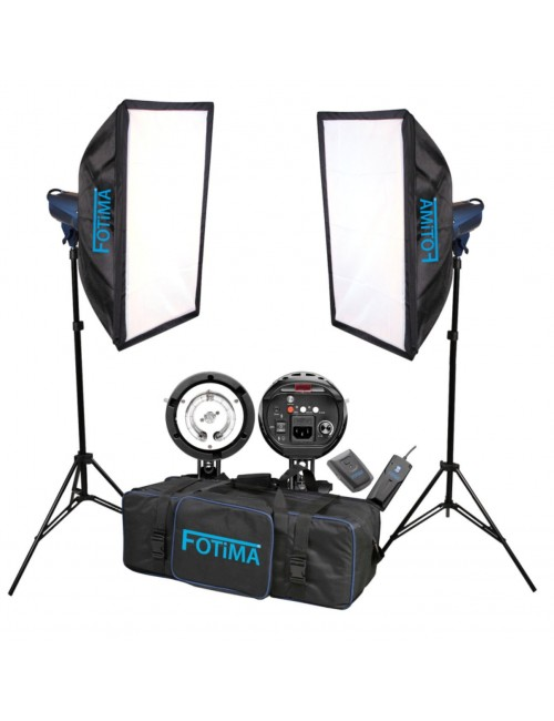 Kit flashes de estudio FTF-180 Pro