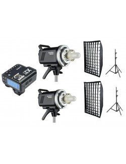 Kit 2 flashes Godox MS200 y accesorios Nikon