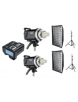 Kit 2 flashes Godox MS200 y accesorios Sony