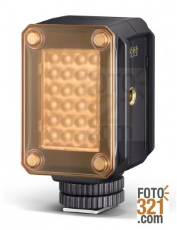 Mecalight LED-160 con filtro naranja