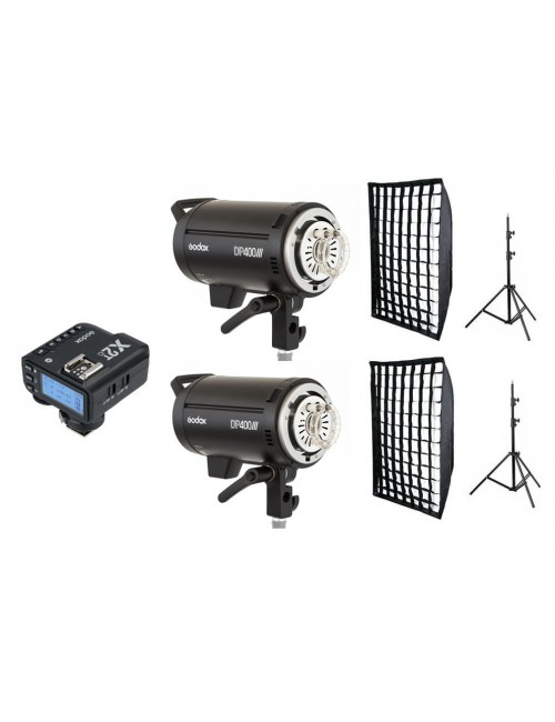 Kit 2 Godox DP400III flashes de estudio y accesorios Nikon