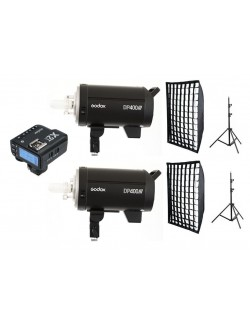 Kit 2 Godox DP400III flashes de estudio para usuarios Sony