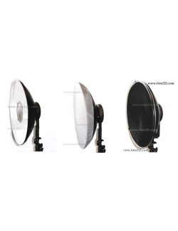 Beauty dish 42 cm blanco con grid
