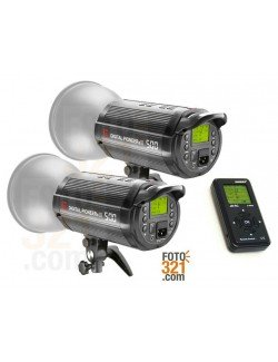 Combo 2x flashes Jinbei DPsIII 500 + JB-RC