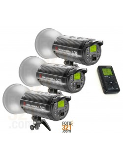 Combo 3x flash Jinbei DPsIII 500 + JB-RC