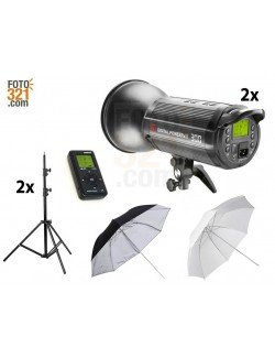 Kit 2A flashes de estudio DPsIII 300