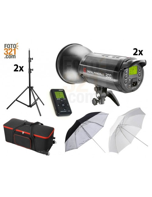 Kit 2A flash DPsIII 300 con maleta