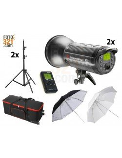Kit 2A flashes de estudio DPsIII 300 con maleta