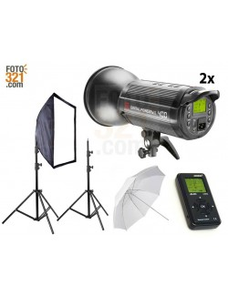 Kit 2x flashes de estudio DPsIII 400