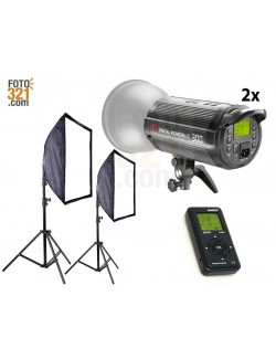 Kit 2B flashes de estudio DPsIII 300
