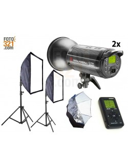 Kit 2x flashes de estudio Jinbei DPsIII 500