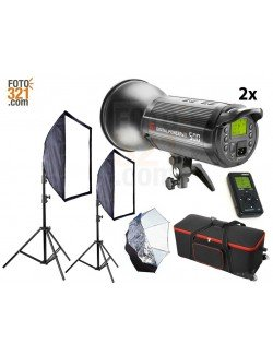 Kit 2x flashes de estudio DPsIII 500 con maleta