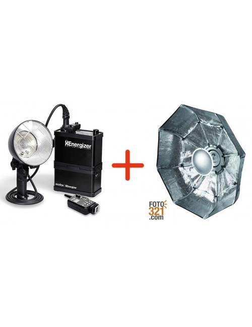 Pack Godox Xenergizer 600 y beauty dish plegable 70cm