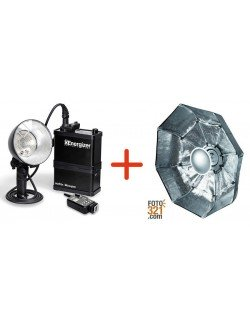 Pack Godox Xenergizer RS600P y beauty dish plegable 85cm