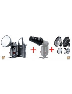 Pack Godox Witstro AD180 con softbox y snoot