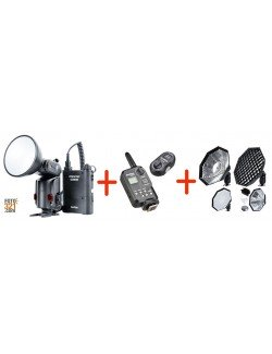 Pack Godox Witstro AD180, triggers FT-16 y softbox