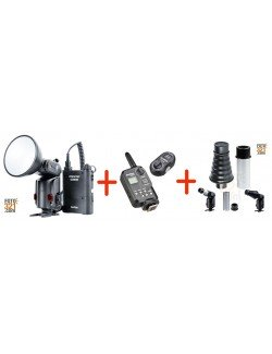 Pack Godox Witstro AD180, triggers FT-16 y snoot  AD S9