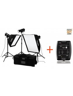 D1 Studio Kit 3 cabezales 500Wx2 + 250W + Air Remote