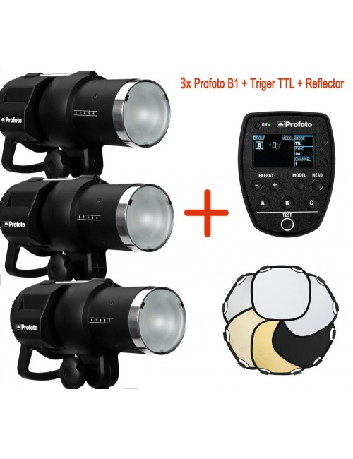 3x Profoto B1 Air Kit + Air Remote Canon + Reflector