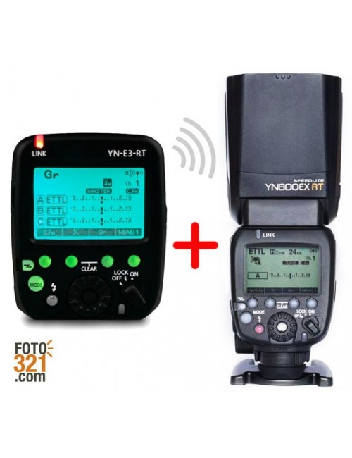 Kit flash YN 600EX RT y disparador ST-E3 RT