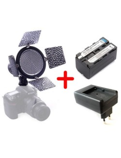 Kit led YN 216 con bateria y cargador