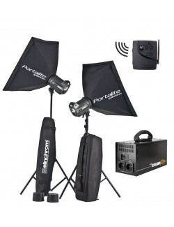 Kit 2 flashes Elinchrom BRX500 To Go + Bateria