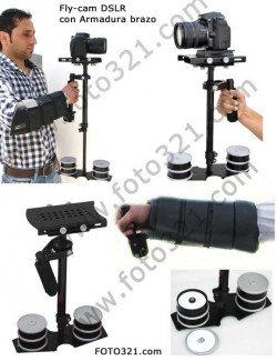 Estabilizador video DSLR Nano y soporte brazo