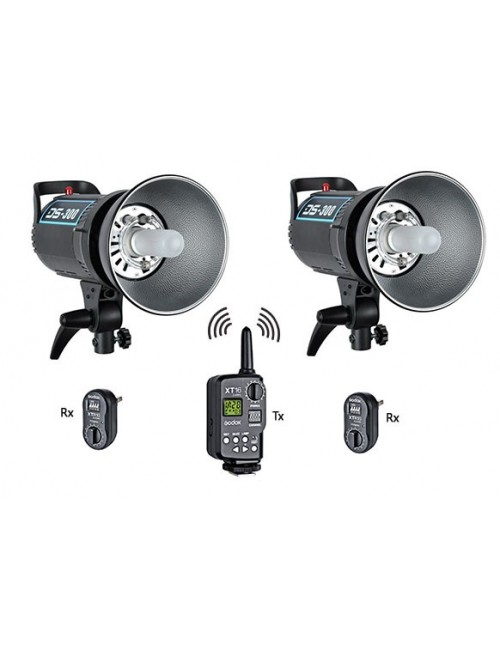 Kit 2x flashes Godox DS300 y trigger XT16