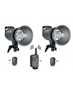 Kit 2 o 3 flashes Godox DS300 y trigger XT16