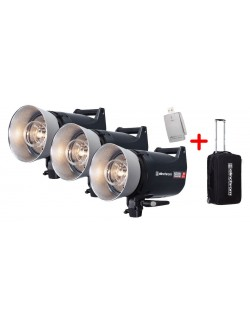 Kit 3x flashes ELC PRO HD 1000