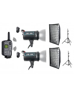 Kit flashes Godox DS300 con accesorios