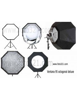 Ventana softbox octogonal 95 deluxe Bowens