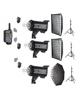 Kit 3x flashes Godox QT600 II con y sin trolley