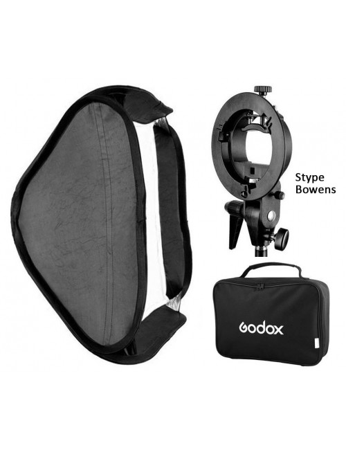 Softbox plegable Godox 80x80 Bowens