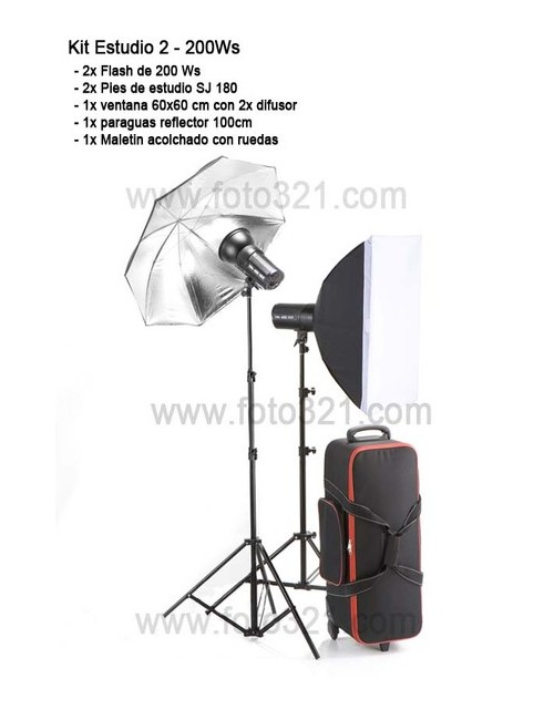 Kit 2 flash de estudio