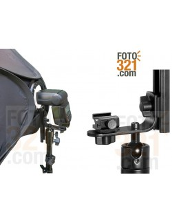 Softbox plegable 40x40cm con doble difusor para flash