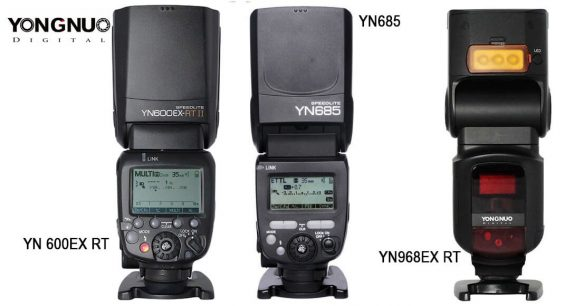 Flashes-Yongnuo-YN685-YN600EXRT-II-YN968EX-RT