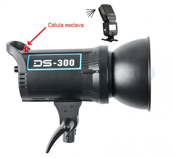 Godox DS300 flash destello mediante celula esclava