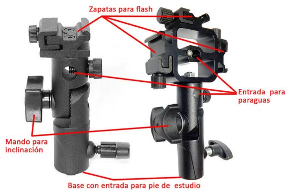 Soporte de Flash para Zapata Speedlite Flash para caber Elinchrom modificadores