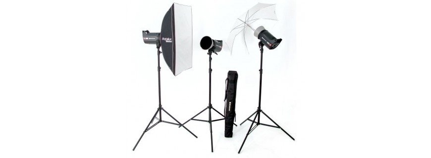 Kit y flashes de estudio