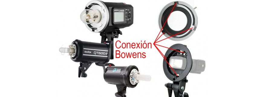 Flashes de estudio con montura Bowens